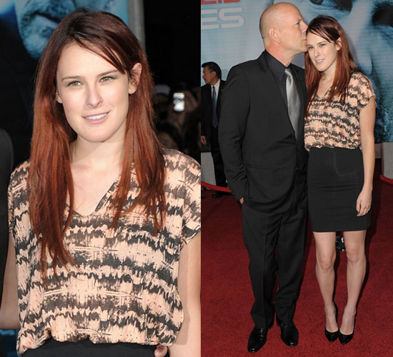 Photo of Rumer Willis in Printed Top at Surrogates Premiere in LA