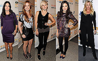 Photo of Courteney Cox, Isla Fisher, Catherine McPhee, Jenna Dewan, and Christina Applegate at Rock a Little, Feed A Lot in LA