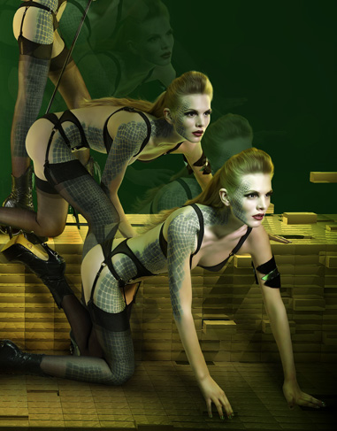 Photos of Agent Provocateur 2009 Fall Superhero Lingerie Collection 2009-10-08 06:50:22