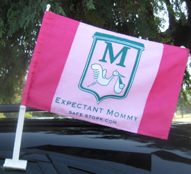 Expectant Mommy Flags for Cars