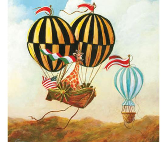 Antique Balloon Canvas