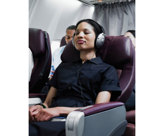 Leave the noise canceling headphones...