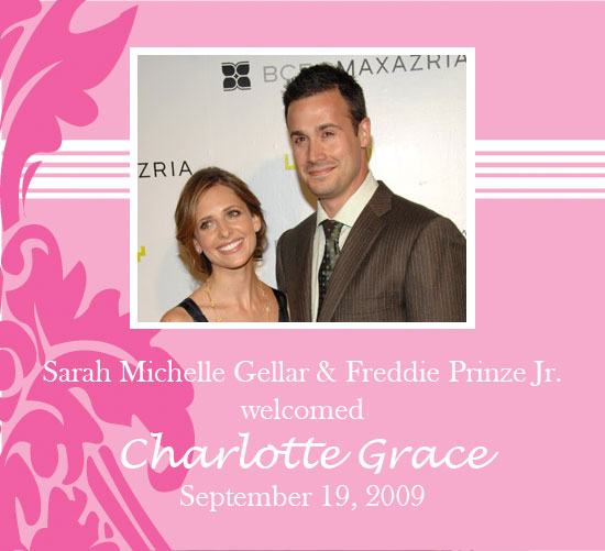 It's a Girl For Sarah Michelle Gellar and Freddie Prinze Jr.