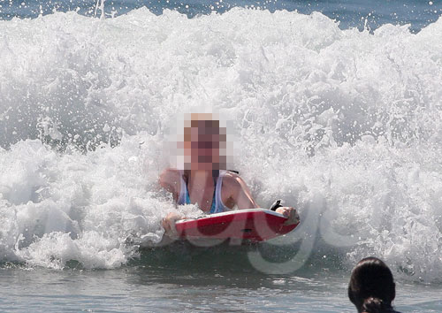 Guess Which Actress is Boogie Boarding