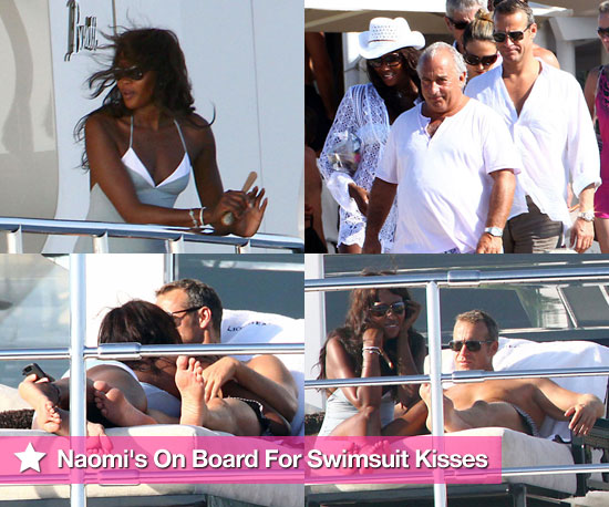 Photos of Naomi Campbell in Swimsuit Kissing Boyfriend Vladislav Doronin on Yacht in Spain With Sir Philip Green