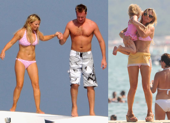 Photos of Geri Halliwell in Bikini With Bluebell and Henry Beckwith in South of France