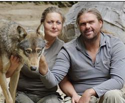 Wolfman Shaun Ellis Teaches Cub to Howl