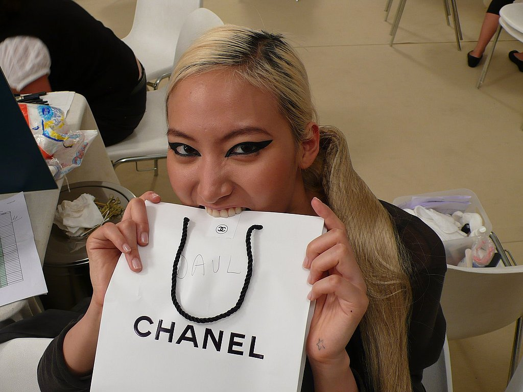 July 2009: Backstage at Fall 2009 Chanel Couture