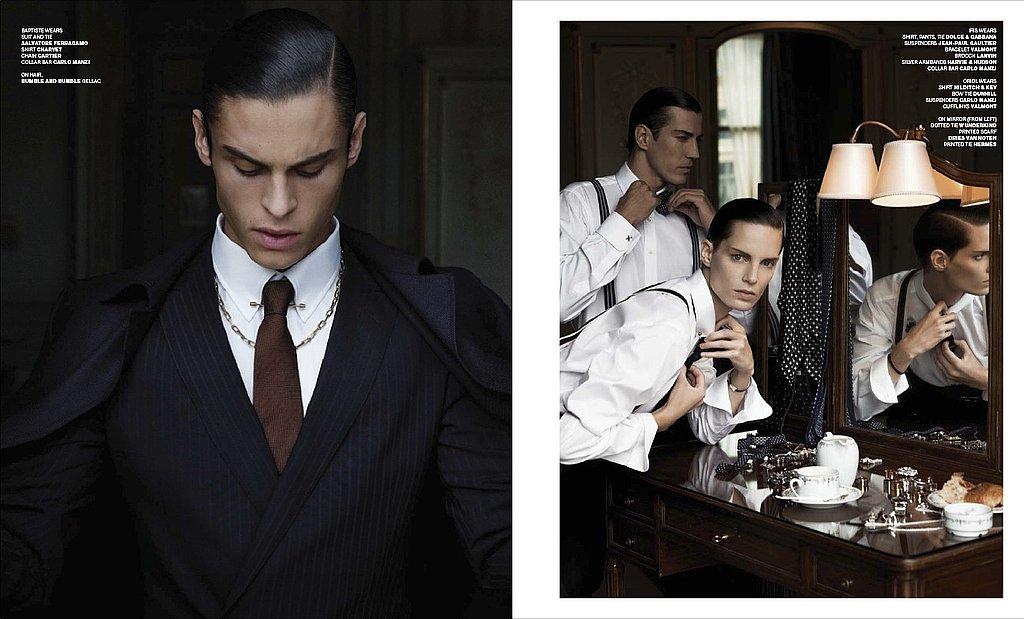 Karl Lagerfeld Photographs Baptiste Giabiconi and Iris Strubegger for VMAN Issue #16