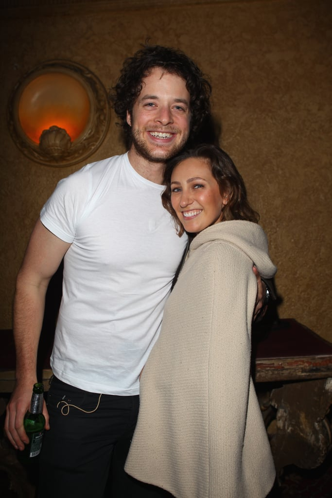 Hamish and Zoë Foster cuddled up after Frank Stallone's Melbourne concert in Aug. 2010.