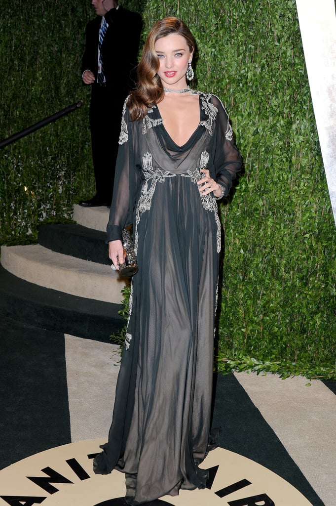 Miranda Kerr at the 2013 Vanity Fair Oscar party.