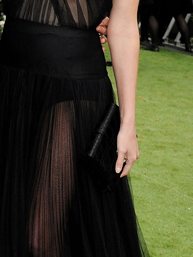 Her simple black clutch was the ideal add-on and never distracted from the dress.