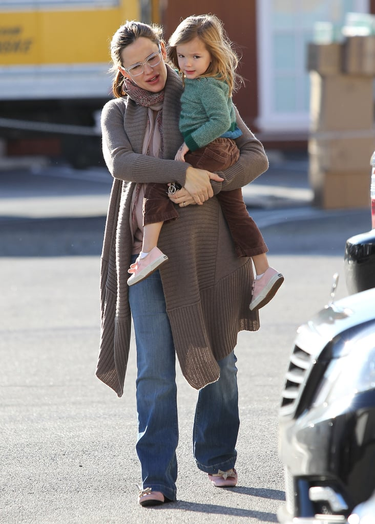 Jennifer Garner and Seraphina Affleck went to grab a warm beverage in LA.
