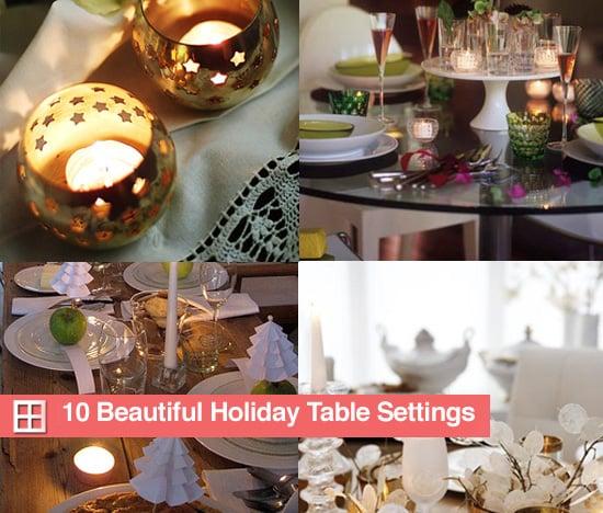 10 Beautiful Holiday Table Settings