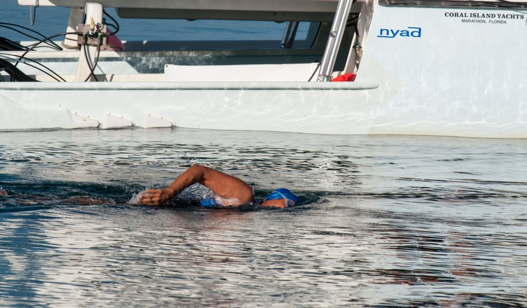 Diana Nyad swam for three days without stopping, all the way from Cuba to Florida.