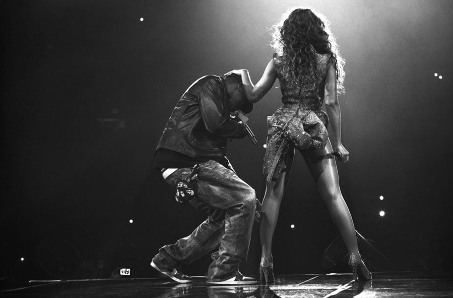 Beyoncé Knowles and Jay-Z lit up a stage together.
