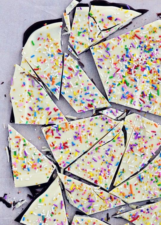 Cake Batter Sprinkle Bark