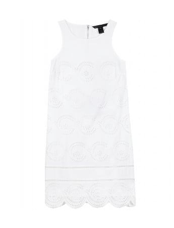 Marc by Marc Jacobs Palmetto Eyelet Detailed Shift Dress ($559)