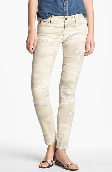 The sandy hue of Textile Elizabeth and James's Debbie Camo Print Stretch Jeans ($190) makes it easy to mix and match the clothes already in your closet.