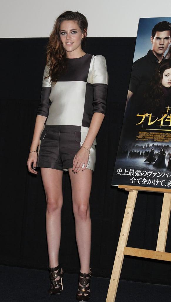 Kristen Stewart was in Japan promoting Breaking Dawn Part 2.