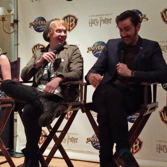 Harry Potter's Rupert Grint and Matt Lewis on Kissing