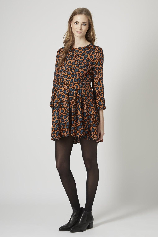 Topshop Maternity Animal-Print Swing Dress