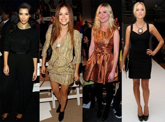 Photos of Rachel Bilson, Kirsten Dunst, Kristin Cavallari, Nicky Hilton, Amanda Bynes at NY Fashion Week