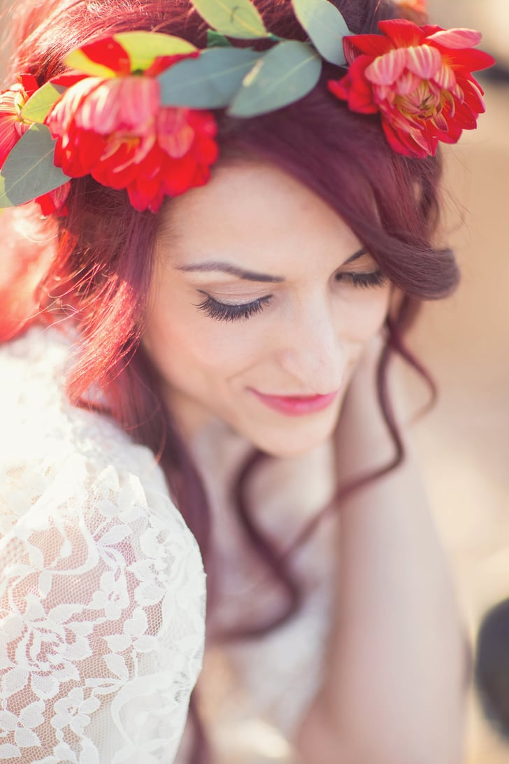 26 Ways to Wear Flowers in Your Hair at a Wedding
