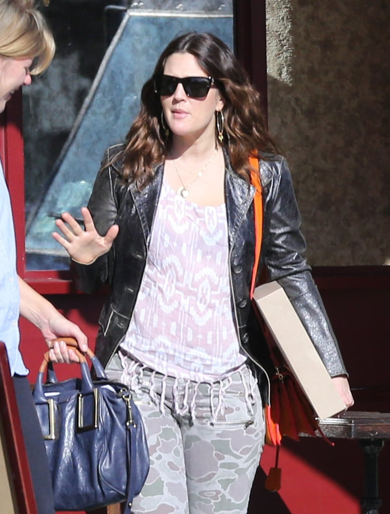 Drew Barrymore met a friend to have lunch in LA.