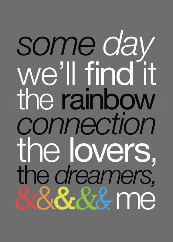 """The Rainbow Connection"" Wall Art"