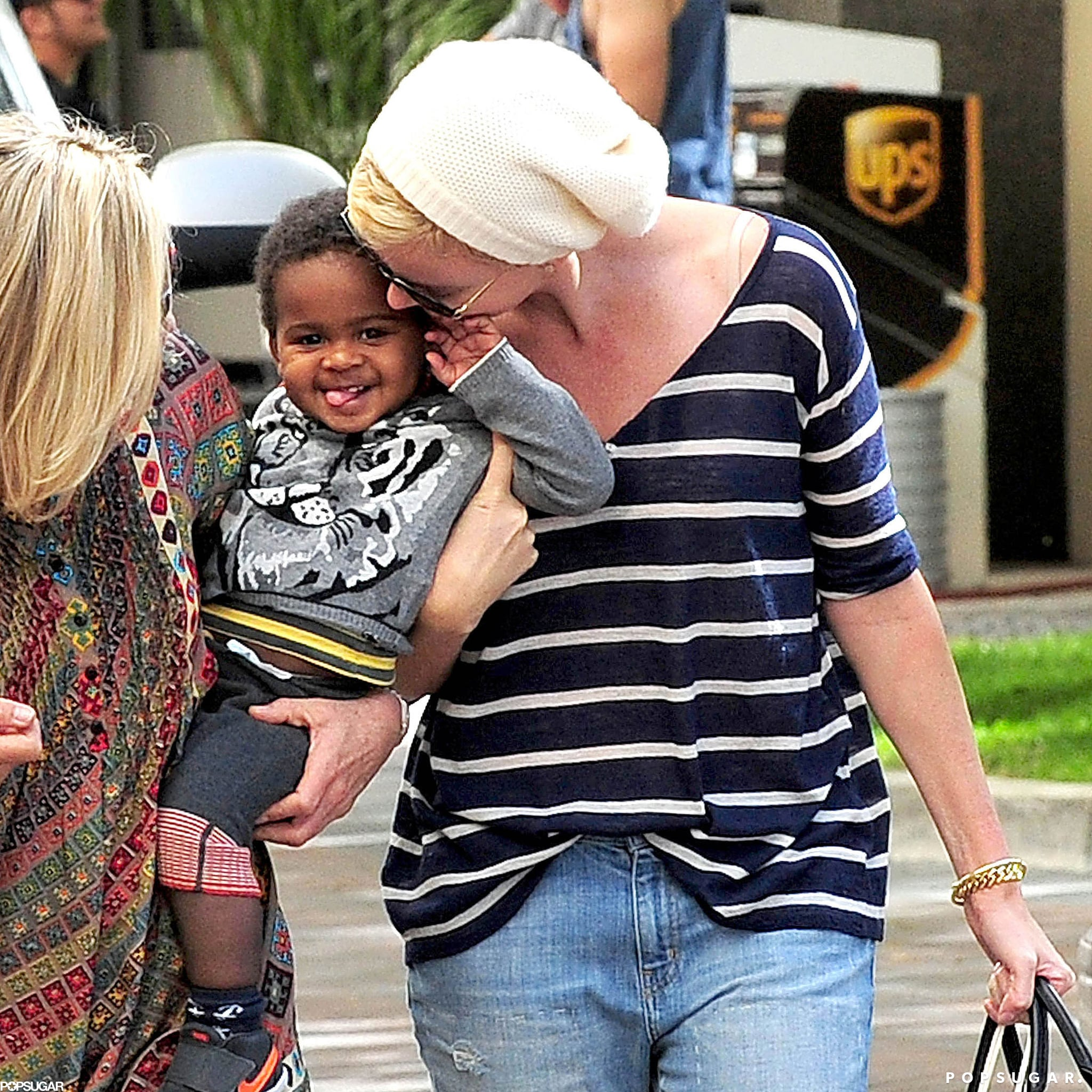 Charlize Shops With Jackson Ahead of His Big Birthday Bash
