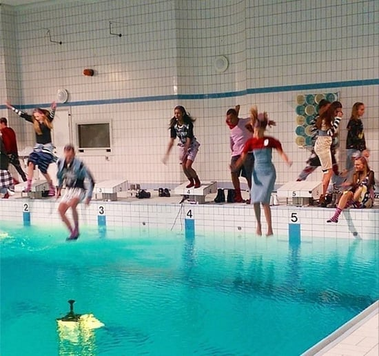 Cheap Monday Just Had a Fashion Show In a Pool