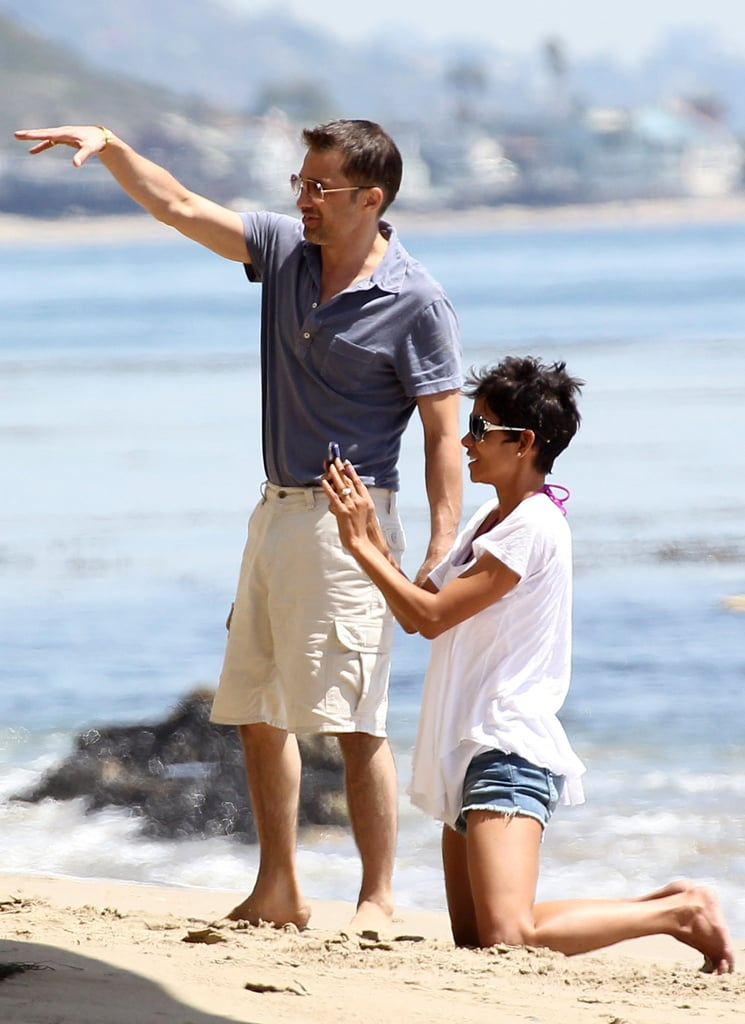Halle Berry and Olivier Martinez spent a beach day with Nahla Aubry over the Easter weekend in April 2012.
