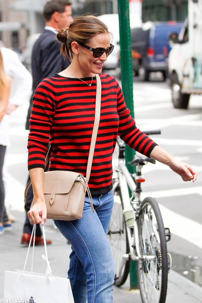 Jennifer Garner was all smiles in NYC.