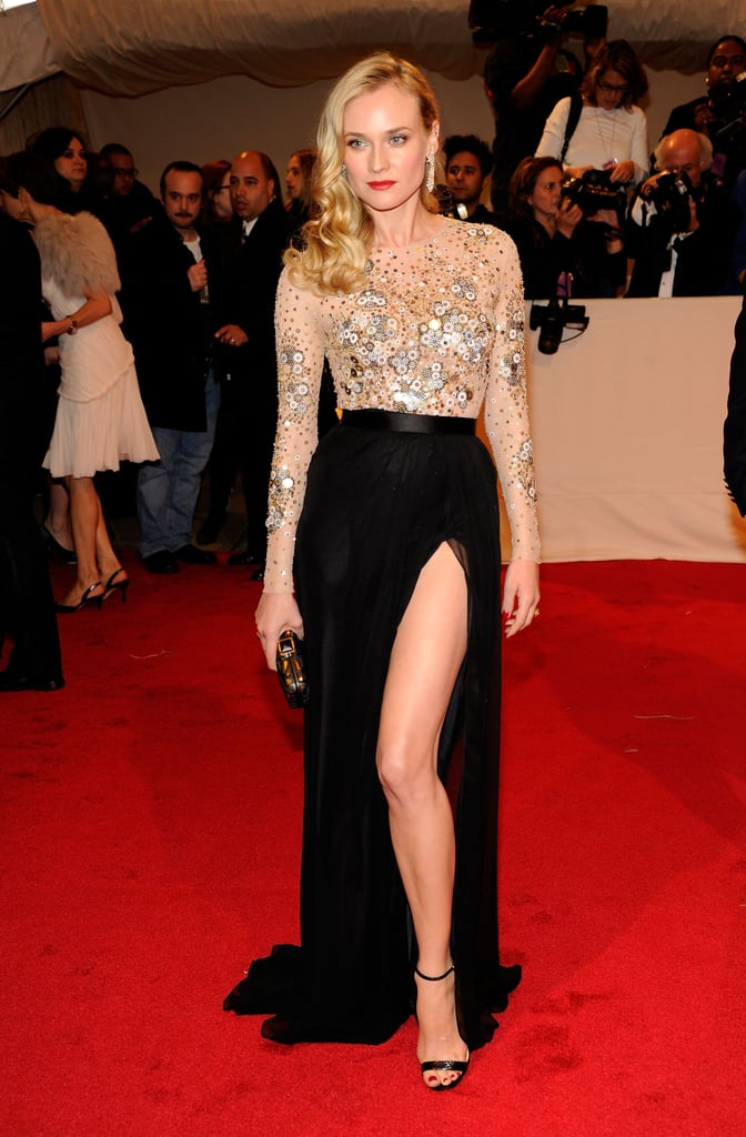 Diane rocked embellished Jason Wu — and a thigh-high slit — at the Met Gala in May 2011.