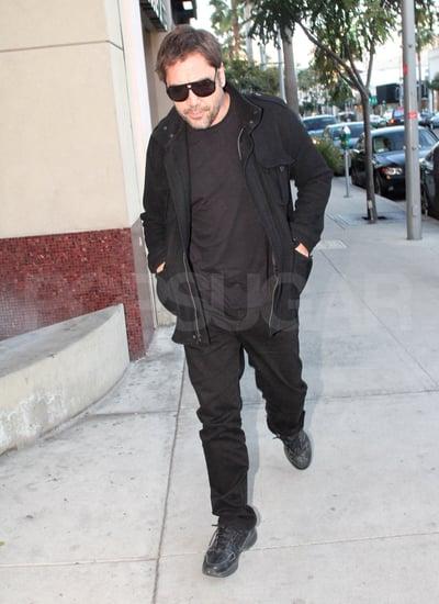 Pictures of New Dad Javier Bardem Running Errands in LA