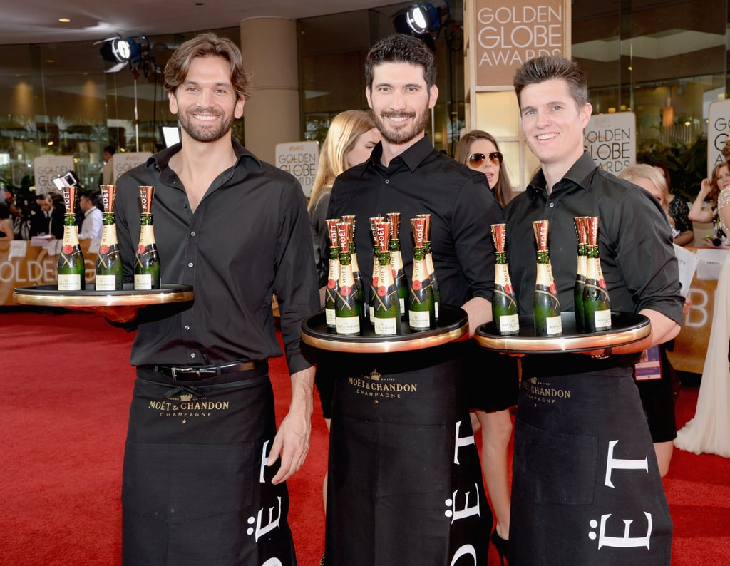 There Were Hot Guys Serving Champagne