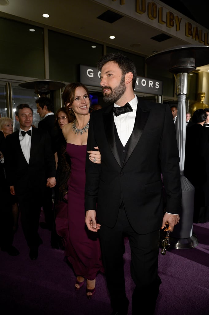 Ben Affleck and Jennifer Garner were arm in arm on the way into the Governors Ball after the Oscars.