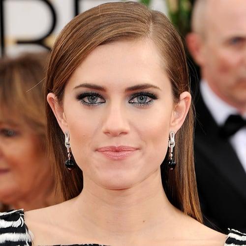 Allison Williams Hair and Makeup at Golden Globes 2014