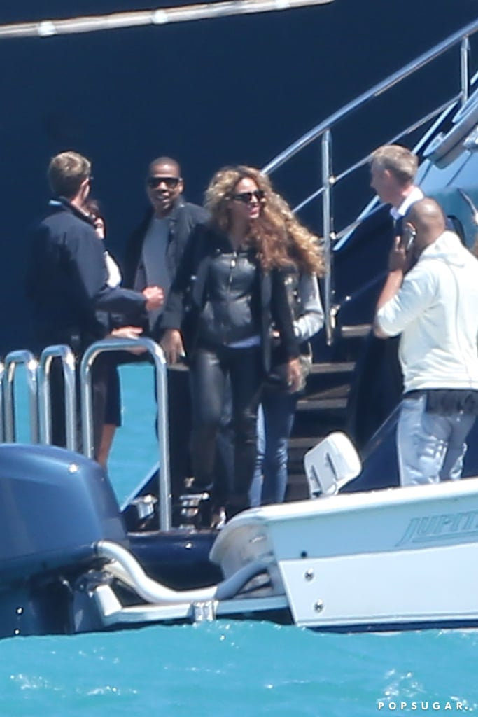 Beyoncé and Jay-Z hopped on board a yacht for a getaway in the South of France.