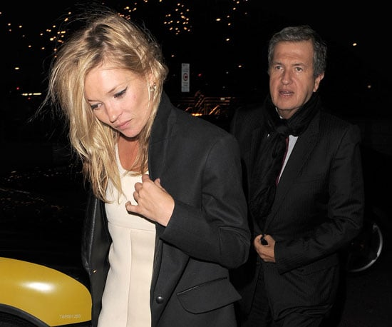Slide Photo of Kate Moss and Mario Testino Leaving Hotel in London