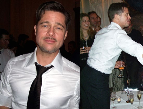 Brad Pitt Throws Back a Few at Button Afterparty