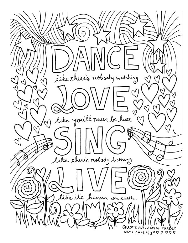 Live Loved Coloring Book Free Colouring Pages For Adults Popsugar Australia Smart