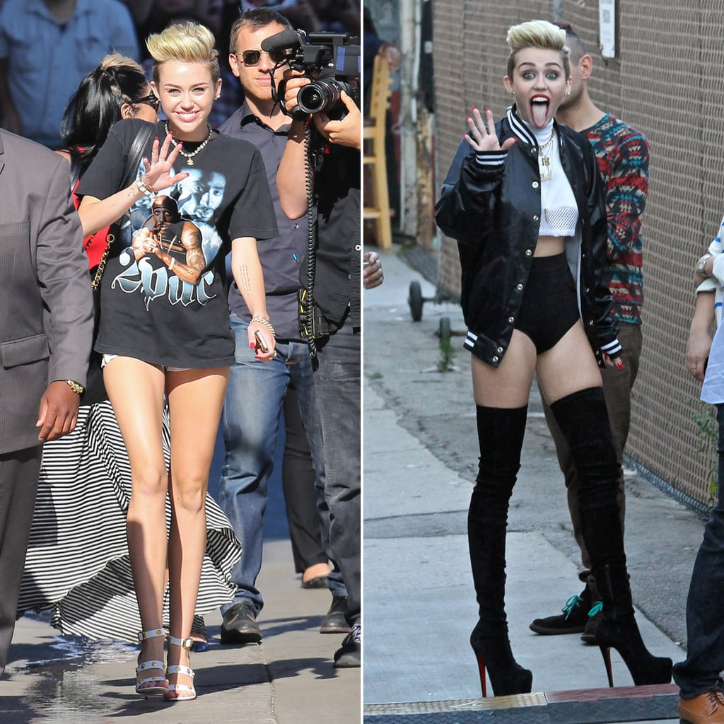 Miley Cyrus Shows Lots of Leg For Her Latest Performance
