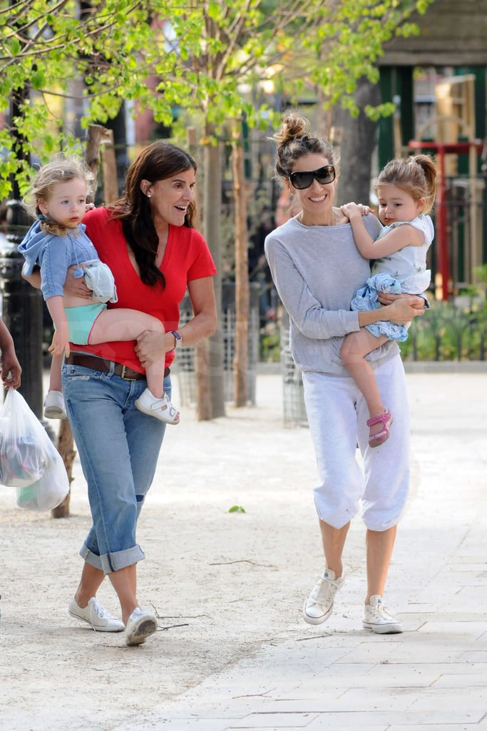 Sarah Jessica Parker spent some quality time out with her daughters Loretta Broderick and Tabitha Broderick at the park in NYC.