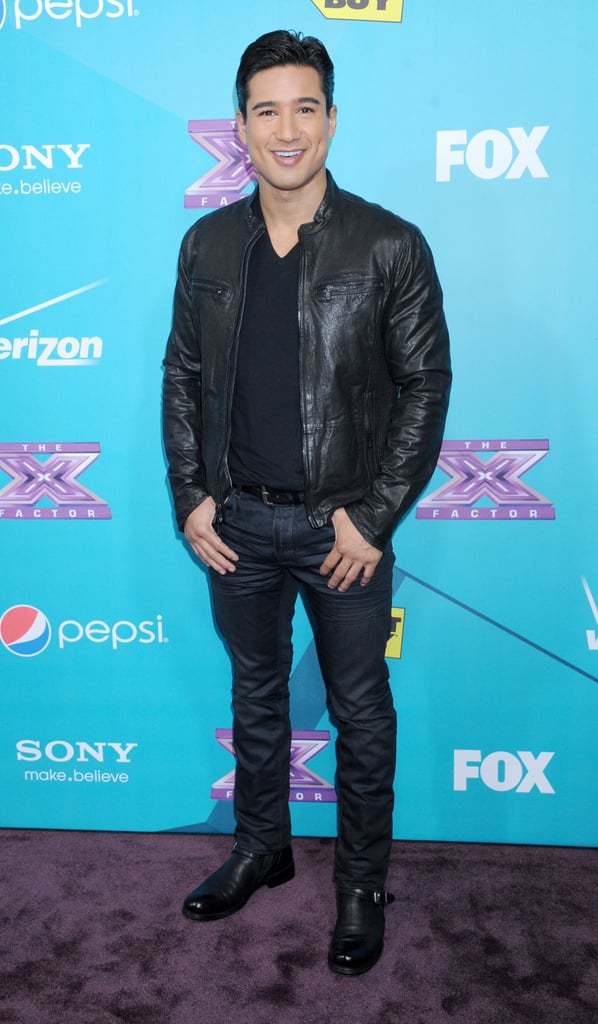 Mario Lopez attended The X Factor finalists party in LA.