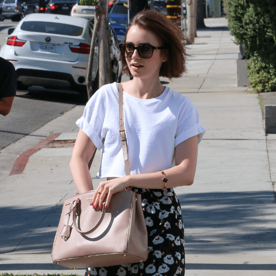 Lily Collins Street Style | How to Wear a White T-Shirt
