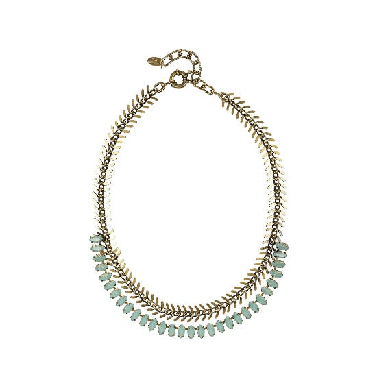 Now's your time to sparkle, add a bit of neck bling to dress up your outfit. — Laura, shopstyle.com.au country manager Necklace, appprox $155, Elizabeth Cole at The Outnet