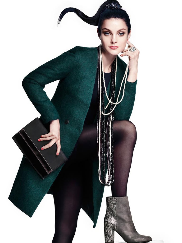 Jessica Stam strikes a glam pose in H&M's accessories for Fall.