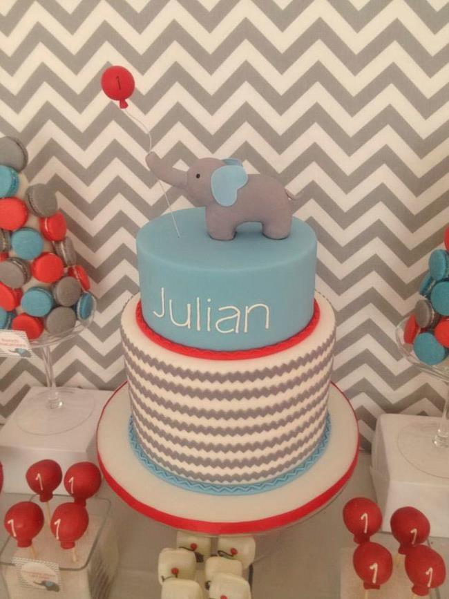 An Elephant and Balloon Cake